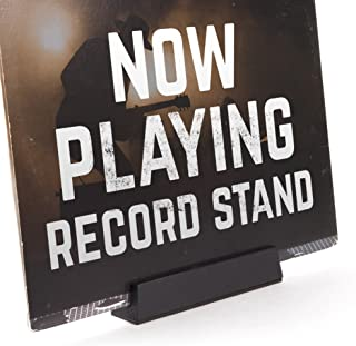 Well Made Now Playing Vinyl Record Album Cover Display Stand in Black