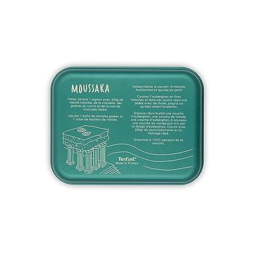 Tefal J5090502 Mini Plat à Four INICIA CITIZ Recette Moussaka 26x20 cm