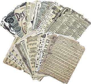 52pcs Scrapbooking Papier Décoratif Vintage Journaling Scrapbooking Accessoires Craft Kits Junk Journal Pages Rétro Craft ...