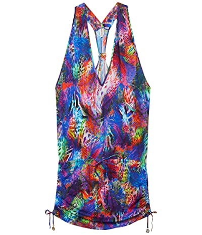 Luli Fama Isla Holbox T-Back Mini Dress (Multi) Women
