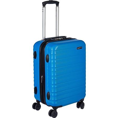 Amazon Basics Valise de voyage à roulettes pivotantes, Bleu clair, 55 cm