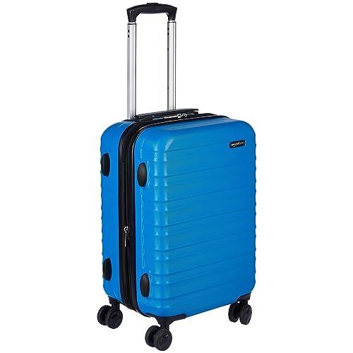 AmazonBasics Valise de voyage à roulettes pivotantes,  Bleu clair, 55 cm