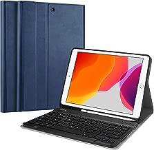 ProCase iPad 10.2 2019 Custodia Tastiera, Cover Sottile Leggera Shell Sottile con Tastiera Wireless Staccabile Magnetica per iPad 10.2 pollici 7a Generazione 2019 A2197 / A2198 / A2200 –Blu Marino