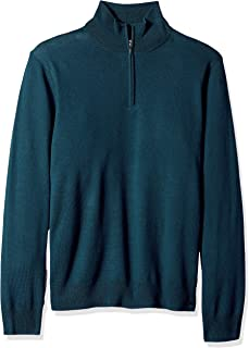 merino wool half zip sweater