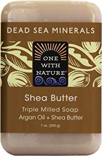 One With Nature, Dead Sea Mineral Bar Soap, Shea Butter, 7 oz