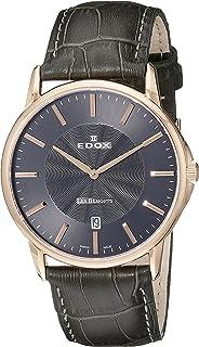 EDOX - Reloj Analógico para Unisex de Cuarzo con Correa en Cuero 56001 37R NIR