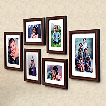 Ajanta Royal Classic Set Of 6 Individual Photo Frames (4-6X8 And 2-8X10 Inch)- Brown : A-89B