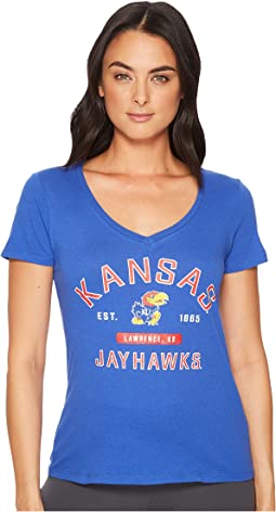 Kansas Jayhawks University V-Neck Tee