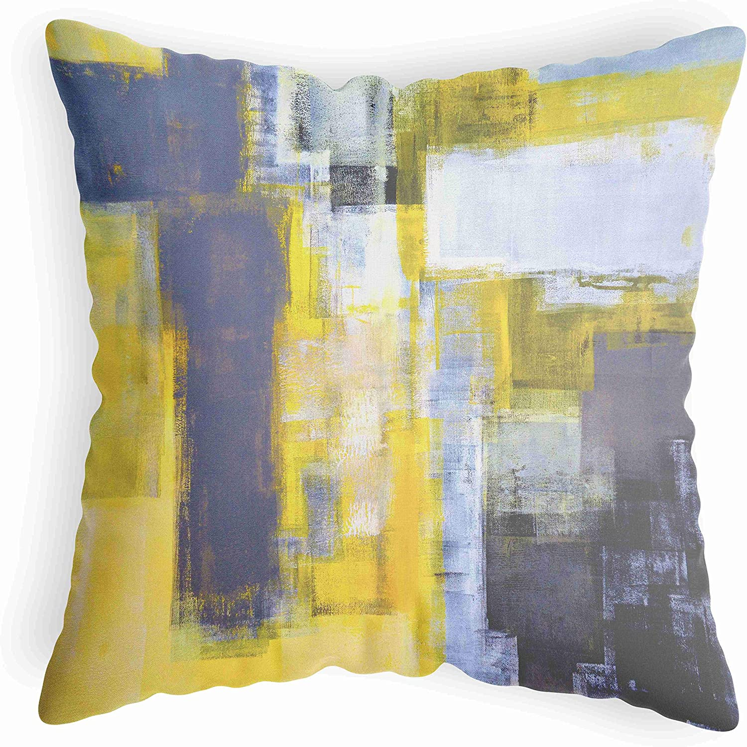 El Paso Mall LucaSng It is very popular Abstract Yellow Throw Pillow Pillo Decorative Gray Cover