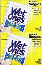 WET ONES Moist Towelette Antibacterial Citrus Singles 24 ea (Pack of 2)