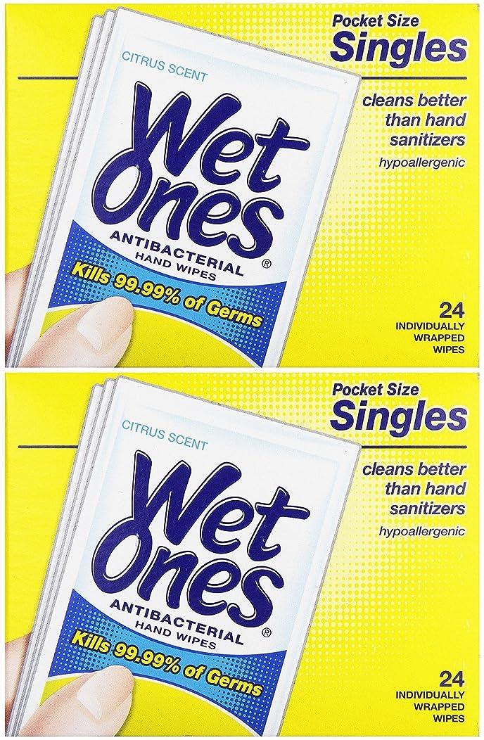 ペスト適切な群がる濡れOnesウェットティッシュ抗菌Citrus Singles 24?ea (パックof 2?)