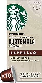 Starbucks 星巴克 危地马拉胶囊咖啡 兼容Nespresso咖啡机(浓度7) (12包,共120粒胶囊)