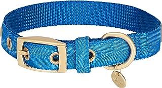 blue glitter dog collar