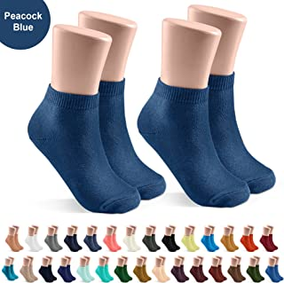 Kids and Baby Socks 2 Pack - Soft Cotton Mini Crew Length for Boys and Girls - Newborn, Toddler and Child - 35 Colors