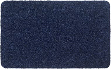 Aqualuxe Polyester Entrance Mat for Indoors, Blue, 40 x 60 cm