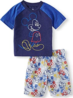 Mickey Mouse 2-Piece Outfit Shirt and Shorts Set for Toddler Boys