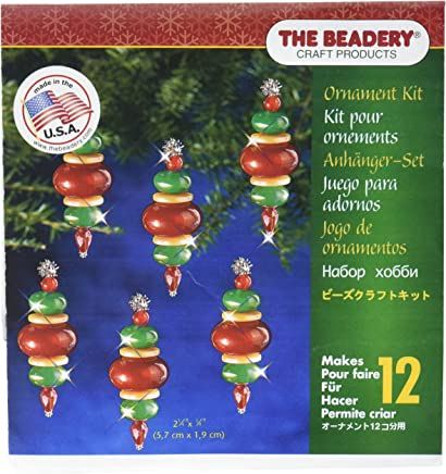 Beadery 7447 Holiday Beaded Ornament Kit Mini Toy Soldier Makes 24 Multi