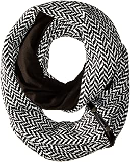 Plush - Fleece - Lined Herringbone Snap Scarf