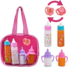 FASH N KOLOR My Sweet Baby Disappearing Doll Feeding Set | Baby Care 4 Piece Doll Feeding Set for Toy Stroller | 2 Milk & Juice Bottles with Toy Pacifier for Baby Doll