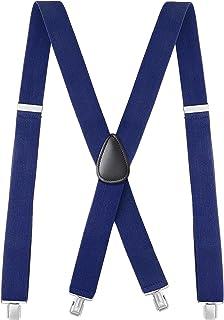 Calvertt Premium - Tirantes para hombre con clip de alta resistencia para pantalones