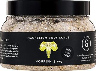 Caim & Able Magnesium Body Scrub 300g NOURISH - Coconut & Australian Desert Lime - Magnesium Sulphate Australian Made & Ow...