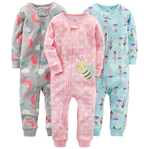 00f09d4835 Simple Joys by Carter s Baby and Toddler Girls  3-Pack Snug Fit Footless  Cotton