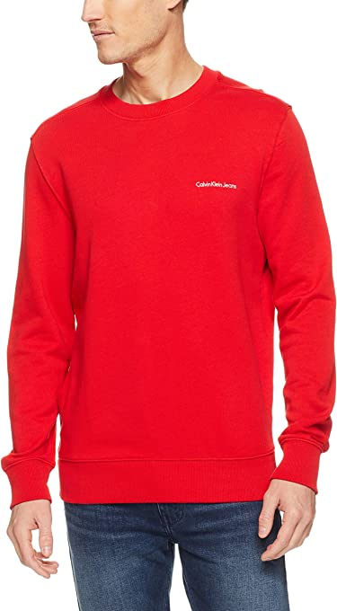 Calvin Klein Men's Pop Color Logo Crew Sweat