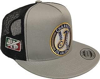 Mexico Charros de Jalisco 3 Logos Hat mesh Silver Gray Black