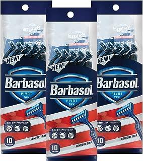 Barbasol Pivot Twin Premium Disposable Razor, 10 Count