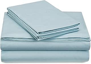 Pinzon 300 Thread Count Percale Cotton Sheet Set - California King, Spa Blue