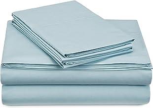 Pinzon 300 Thread Count Percale Cotton Sheet Set - Twin, Spa Blue
