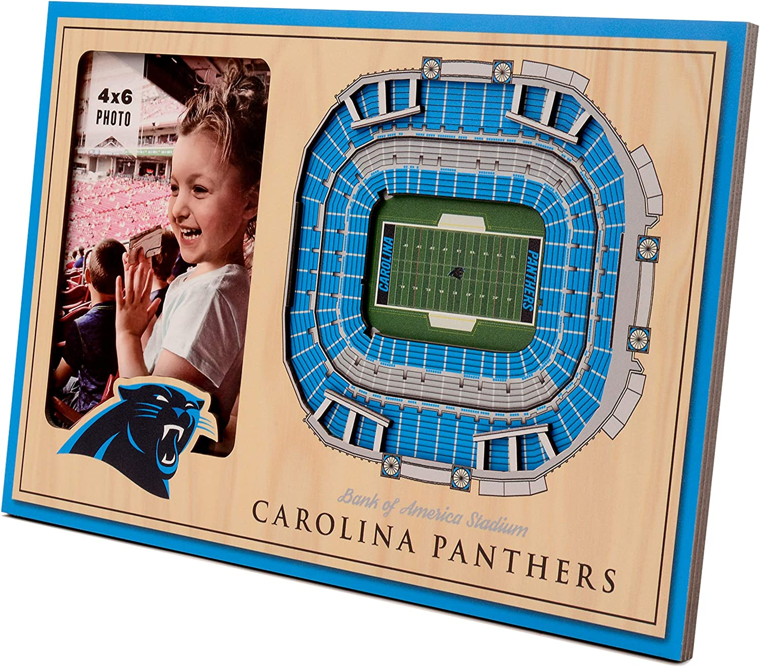 YouTheFan NFL 12 x 8 3D StadiumView Frame Picture Frame and 3D Artwork Combo