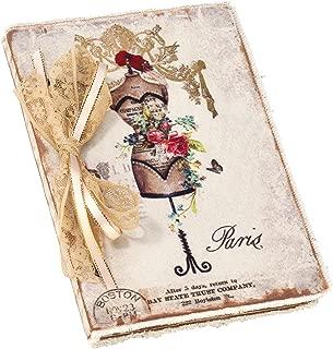 October Hill Fabric Boudoir Scrapbook Journal, Dress Form Paris (MBF12606)