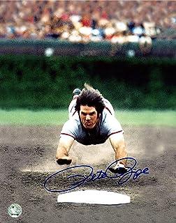 Pete Rose Autographed Picture - 8x10 PR Holo Stock #159228 - Autographed MLB Photos