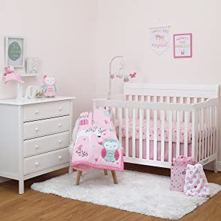 Child of Mine by Carter's Princess 3pc Crib Bedding Set - Unicorn - Owl - Baby Girl