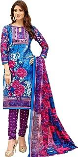 Minu salwar Cotton Printed Suit sets Blue(Koyal3_3004)