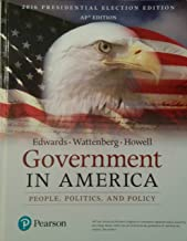 Best government in america: people, politics, and policy 17th edition Reviews