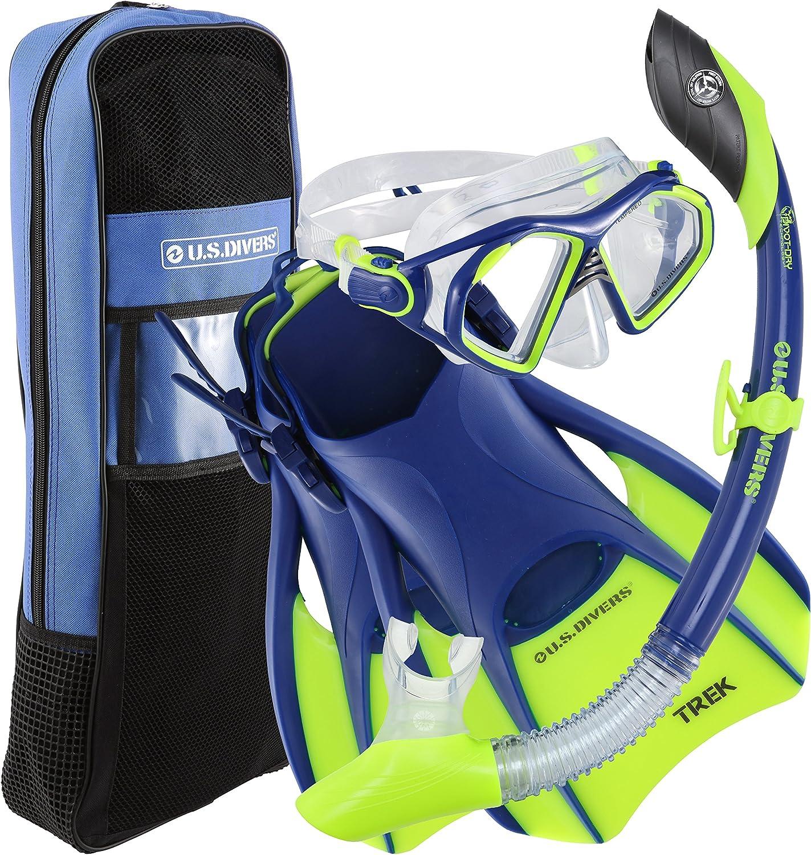 U.S. Divers ランキング総合1位 Admiral Premium Snorkeling - Trek Mask 訳あり Silicone Set