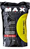 Whey Pro - Refil Morango, Max Titanium, 1500 g
