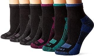 Women's 6 Pack Dritech Quarter Socks