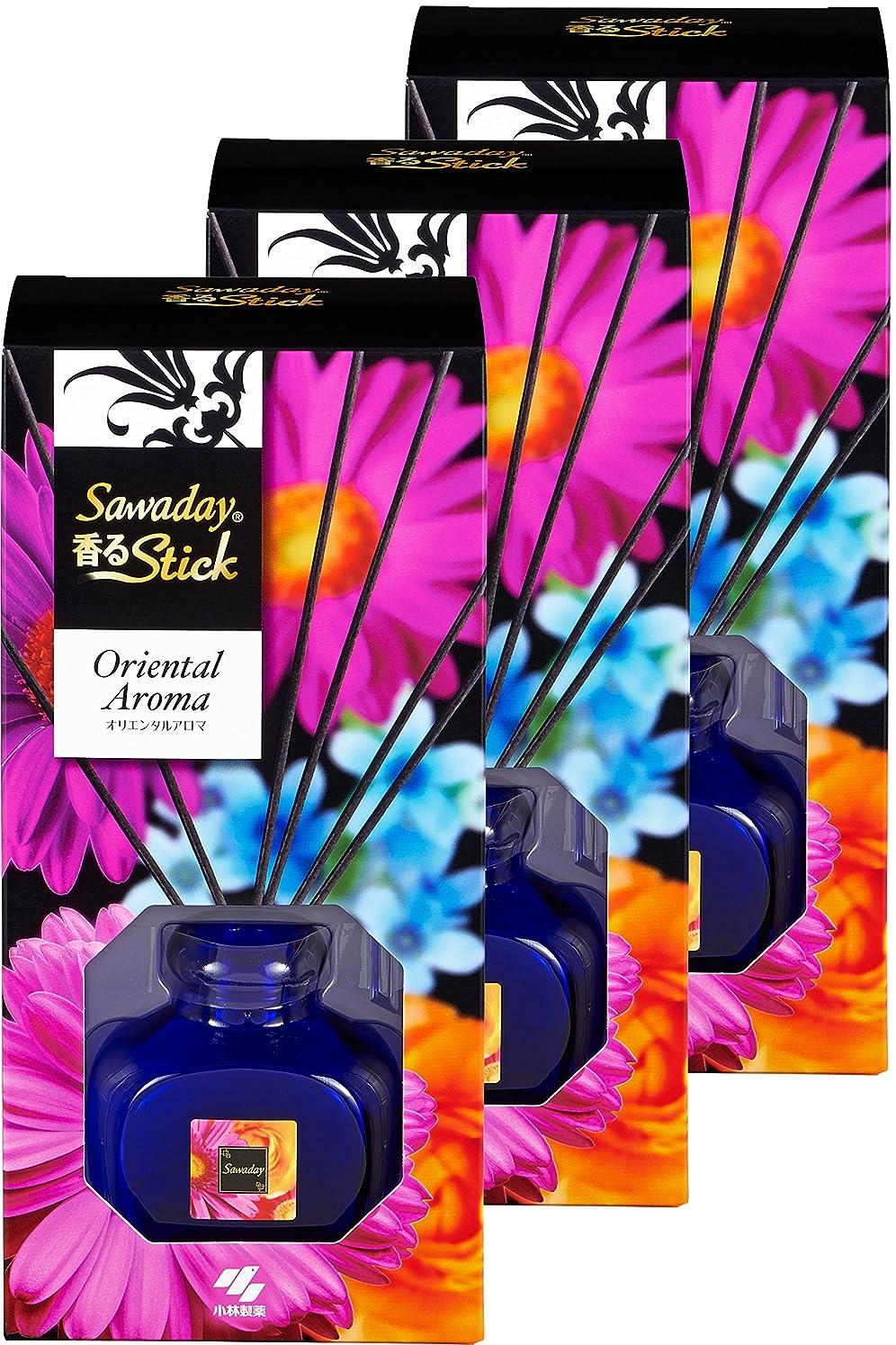 【まとめ買い】サワデー香るスティック 消臭芳香剤 本体 オリエンタルアロマ 70ml×3個