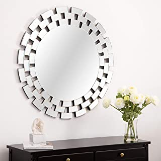 KOHROS Large Antique Wall Mirror Ornate Glass Framed Venetian Decor Mirror Bedroom,Bathroom, Living Room (31.5