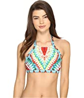 Luli Fama - Wild Heart Born Free Engineered Reversible High Neck Top
