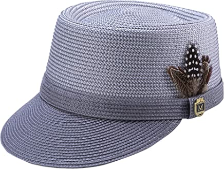 245554f1 MONTIQUE Braided Legionnaire Designer Two Tone Hat with Feather and Pin H67