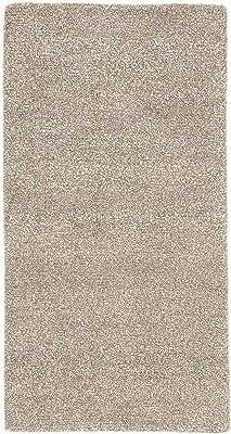 CarpetFine: Nepal Design Teppich 74x142 Grau - Handgeknüpft - Einfarbig