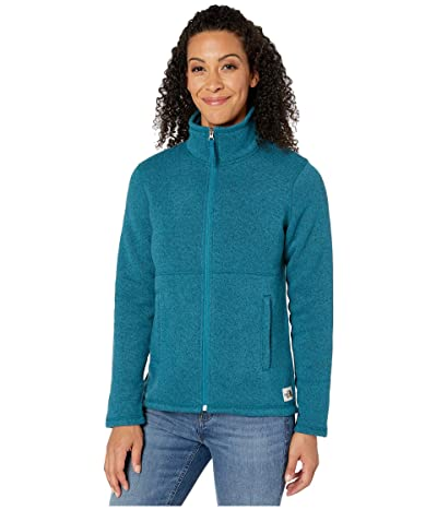 The North Face Crescent Full Zip (Blue Coral Black Heather) Women