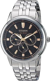 Citizen Men's Eco-Drive Japanese-Quartz Watch with Stainless-Steel Strap, Silver (Model: BU2070-55E)