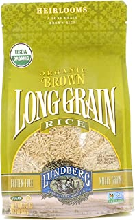 Lundberg Family Farms Brown Rice, Long Grain, Gluten Free, Organic, 2 lb