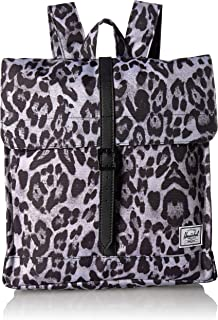 Herschel City Mid-Volume Backpack, Snow Leopard/Black, One Size