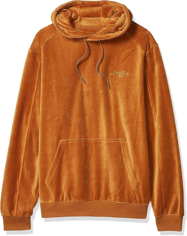 Sean John Men's Long Sleeve Hooded Pullover Velour Sweatshirt